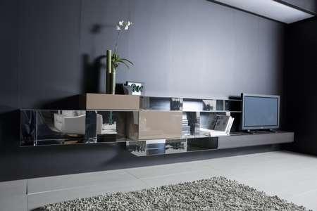 Итальянская мебель Pianca - Стенка Spazio Lab металл, матовый лак