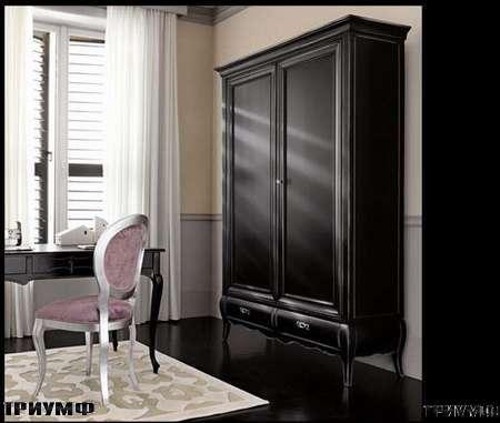 Итальянская мебель Flai - Шкаф с ящиками черный массив дерева