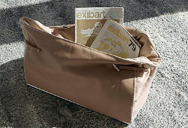 Итальянская мебель Gamma Aredamenti - Газетница в виде сумки Dandy Bag
