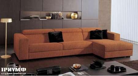 Итальянская мебель CTS Salotti - Диван угловой с валиками, модель Swing