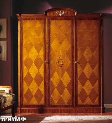 Итальянская мебель Colombo Mobili - Шкаф кол. Donizetti в имперском стиле арт.213.3