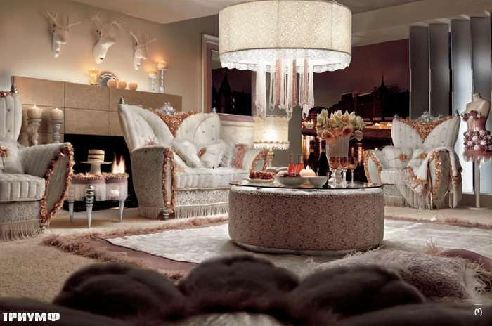 Итальянская мебель Altamoda - Диван 2 местный и кресло с гуськом