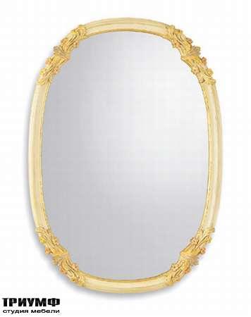 Итальянская мебель Chelini - Зеркало овальное с орнаментом