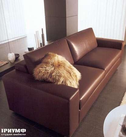 Итальянская мебель CTS Salotti - Диван современный кожаный, модель Сab