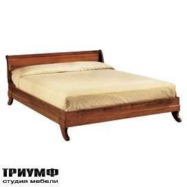 Итальянская мебель Morelato - Широкая кровать на фигурных ножках