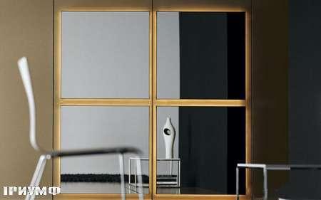 Итальянская мебель Presotto - зеркало Domino в латуне
