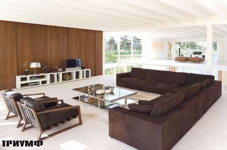 Итальянская мебель Rivolta - диван Long Island в замши