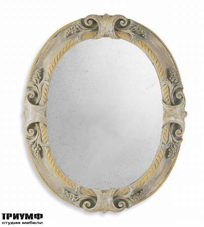 Итальянская мебель Chelini - Зеркало состаренное, овальное