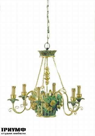 Итальянская мебель Chelini - Люстра потолочная с цветами