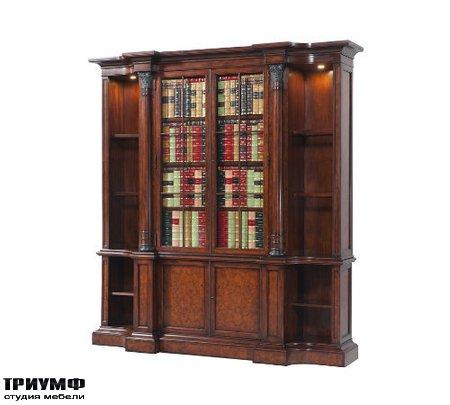 Американская мебель Theodore Alexander - A faux book and laurel burl bookcase
