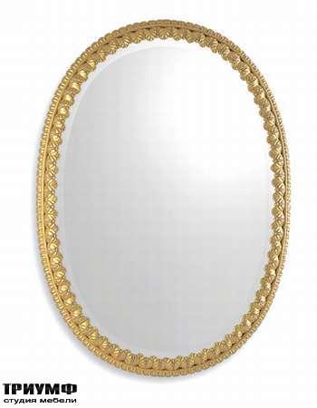 Итальянская мебель Chelini - Зеркало овальное настенное  арт.588