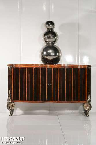 Итальянская мебель Cornelio Cappellini - Комод с 3 распашными дверьми, интарсия