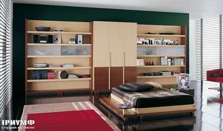 Итальянская мебель Julia - Стенка и кровать, коллекция oasis color