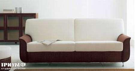 Итальянская мебель Rattan Wood - Диван двухместный Ambra