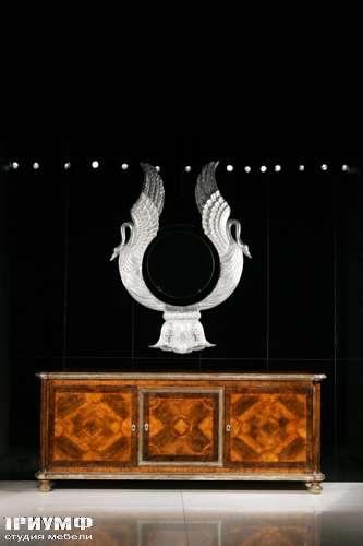 Итальянская мебель Cornelio Cappellini - Комод с дверьми, инкрустация, радика