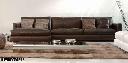 Итальянская мебель Rivolta - диван One кожаный