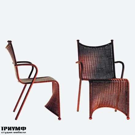 Итальянская мебель Driade - Кресло из ротанга, s-образное
