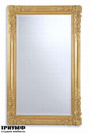 Итальянская мебель Chelini - Зеркало прямоугольное с орнаментом арт.1007