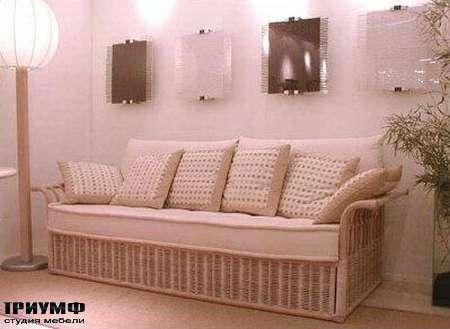 Итальянская мебель Rattan Wood - Диван из ратанга  Dunec-c