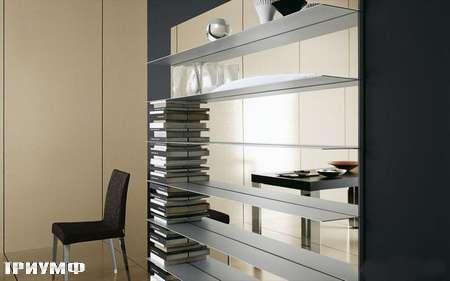 Итальянская мебель Presotto - полки oasi алуминевые на зеркале