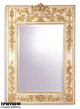 Итальянская мебель Chelini - Зеркало с фальцетом в широкой раме арт.1018