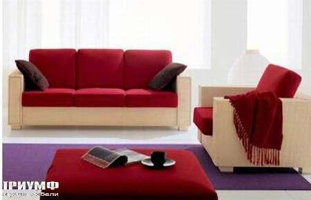 Итальянская мебель Rattan Wood - Диван и кресло Elite