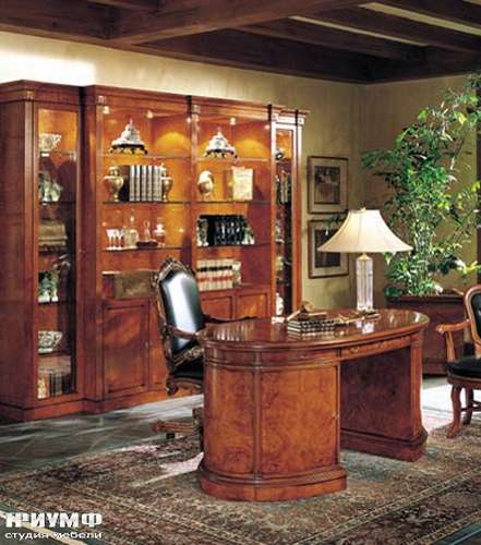 Итальянская мебель Francesco Molon - Стол письменный овальный