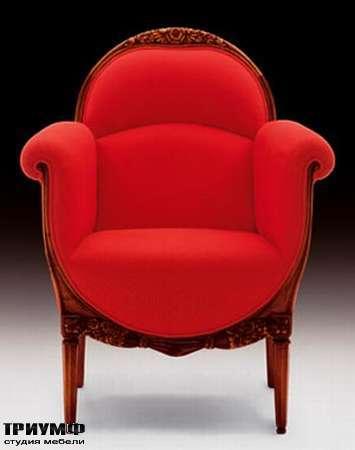Итальянская мебель Medea - Кресло и пуф классические на колёсах