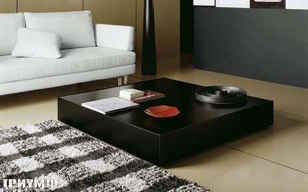 Итальянская мебель Presotto - стол журнальный квадратный Oasi в лаке