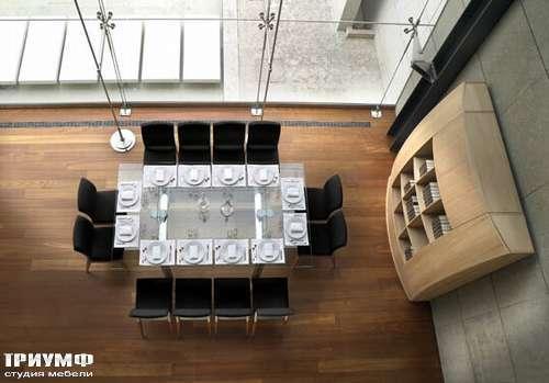 Итальянская мебель Reflex Angelo - Стол стеклянный раздвижной ambientata policleto q