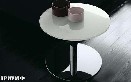 Итальянская мебель Presotto - стол приставлной Circus со стеклянной столешницей