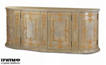 Итальянская мебель Chelini - Комод полукруглый с орнаментом арт.1066