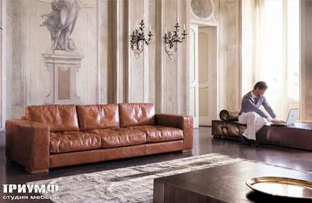 Итальянская мебель Love Luxe (Longhi) - Диван трехместный кожаный Max