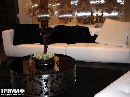 Итальянская мебель Rugiano - Стол кофейный Kamelia металл, стекло, разные размеры