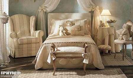 Итальянская мебель Halley - Коллекция Camargue кровать Burton 1CA
