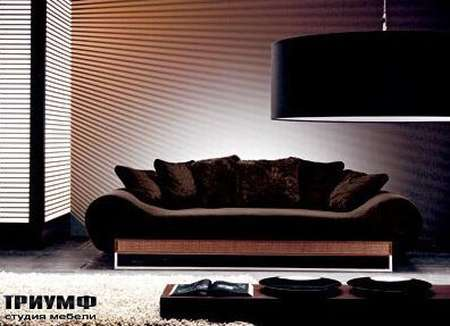 Итальянская мебель Rattan Wood - Диван с подушками Marlene