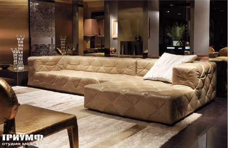 Итальянская мебель Love Luxe (Longhi) - Диван стеганный с лежанкой Must