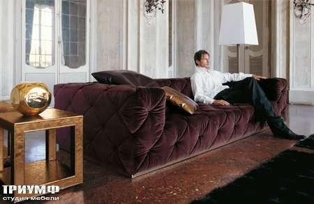 Итальянская мебель Love Luxe (Longhi) - Диван велюровый с пуговицами Must