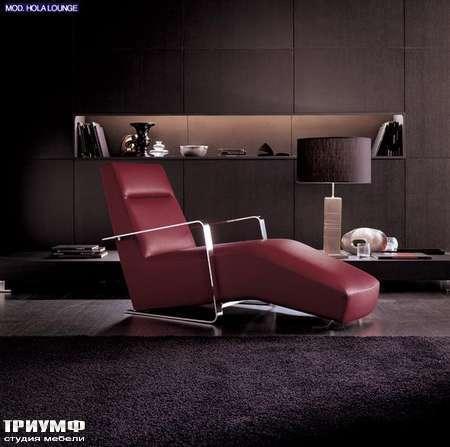 Итальянская мебель CTS Salotti - Кресло шезлонг кожаный, Holalounge