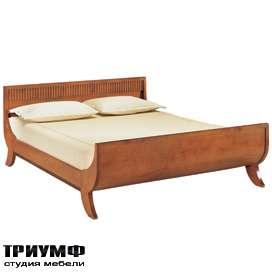 Кровать с рифленым изголовьем
