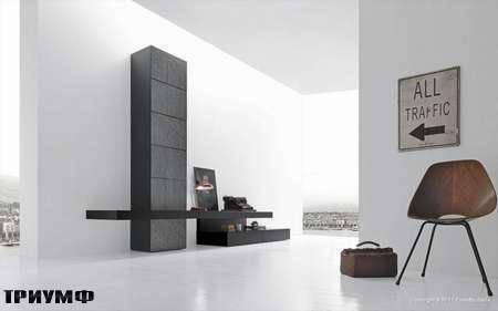 Итальянская мебель Presotto - кабинет с панелями из камня