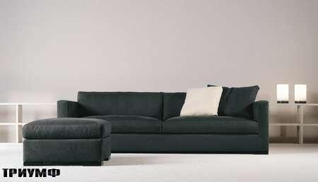 Итальянская мебель Meridiani - диван Belmondo XL с пуфом