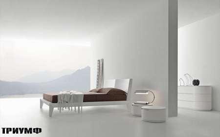 Итальянская мебель Presotto - Кровать Dune в белом крашенном дереве