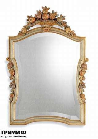 Итальянская мебель Chelini - Зеркало  классической c фруктовой короной арт.388/P