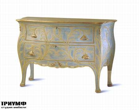 Итальянская мебель Chelini - Комод состаренный с узорами арт.503