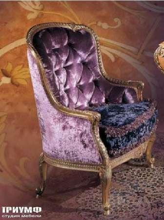Итальянская мебель Ezio Bellotti - Кресло в ткани с деревом