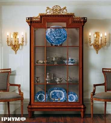 Итальянская мебель Colombo Mobili - Витрина в стиле Бидермайер арт.145 кол. Rossini