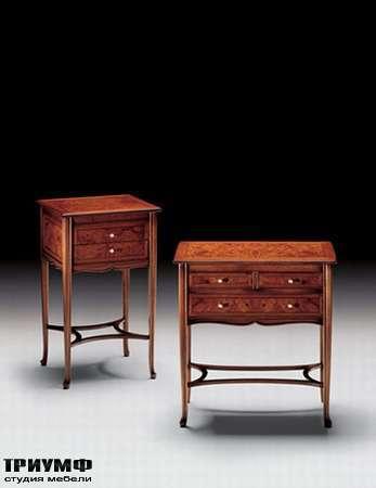 Итальянская мебель Medea - Стол-тумба с ящиками из дерева с применением инкрустации