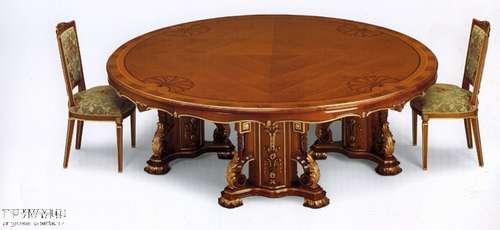 Итальянская мебель Citterio Fratelli - Стол круглый классический на четырех основаниях для переговоров