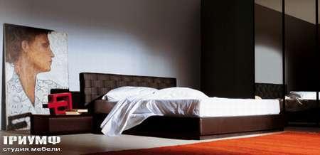 Итальянская мебель Pianca - Кровать Intreccio с плетенной спинкой